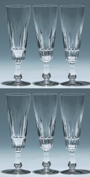 6 Villeroy & Boch Bleikristall Sektgläser TIARA