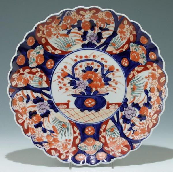 Große handbemalte Imari Schale Japan - Ø 31,5 cm