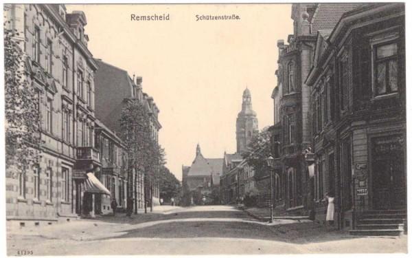 Ansichtskarte REMSCHEID - SCHÜTZENSTRASSE - gelaufen 1916 #ak0063