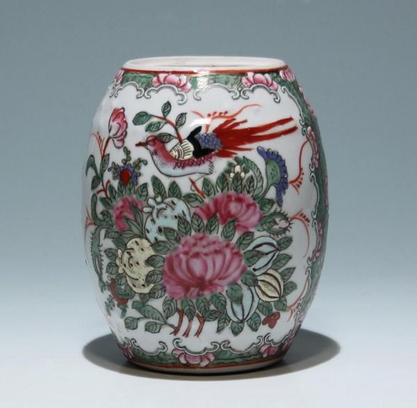 Chinesische Famille Rose Vase - TongZhi Marke