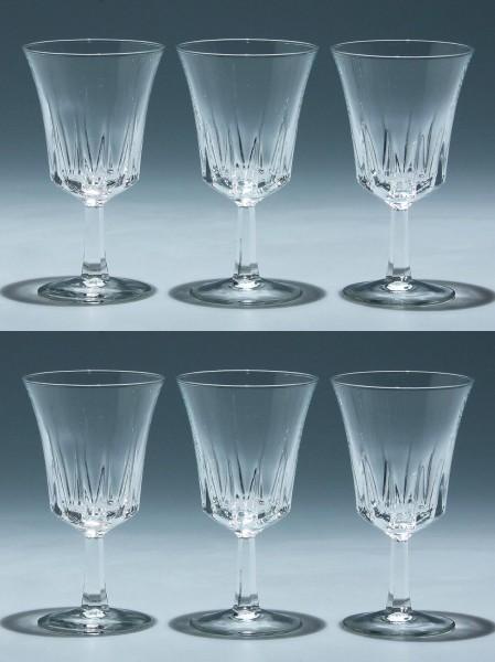 6 Cristal d`Arques Kelchgläser REGENCY - 13 cm