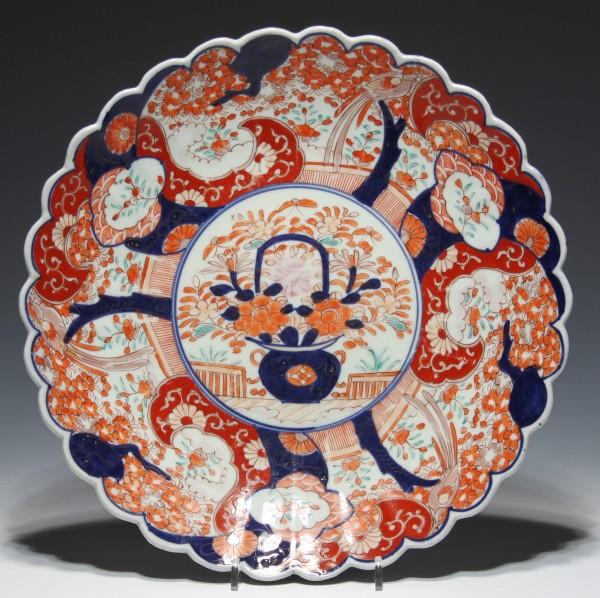 Große handbemalte Imari Schale Japan Anfang 20. Jh. - Ø 30,8 cm