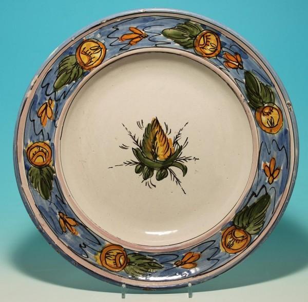 Großer Keramikteller Italien 19. Jh.