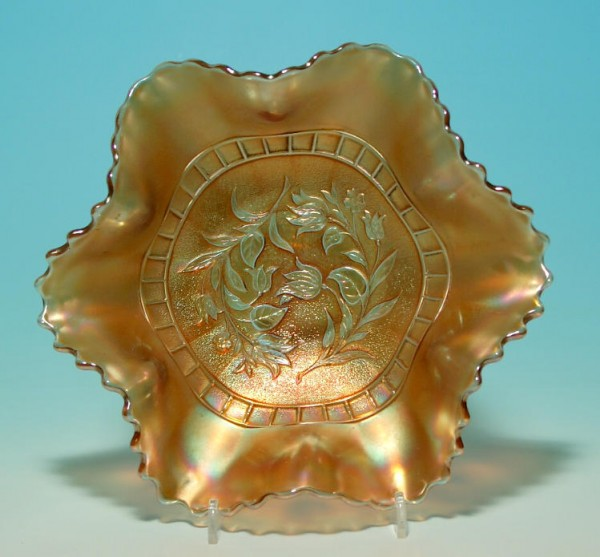 Dugan Windflower Pattern Carnival Glass Bowl