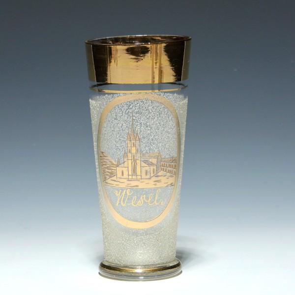 Jugendstil Andenkenglas WESEL - Anfang 20. Jh. - 14,2 cm
