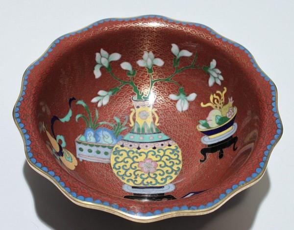 Cloisonné Schale - China 20. Jh. - Ø 18 cm