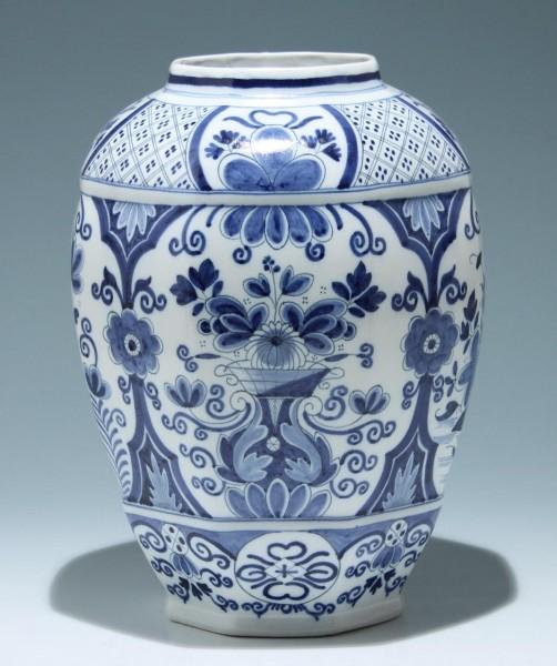 Große handbemalte Delft Keramik Vase