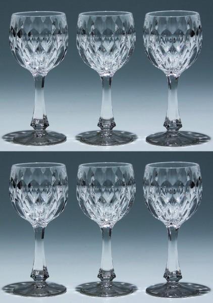 6 Nachtmann Bleikristall Südweingläser EDELWEISS