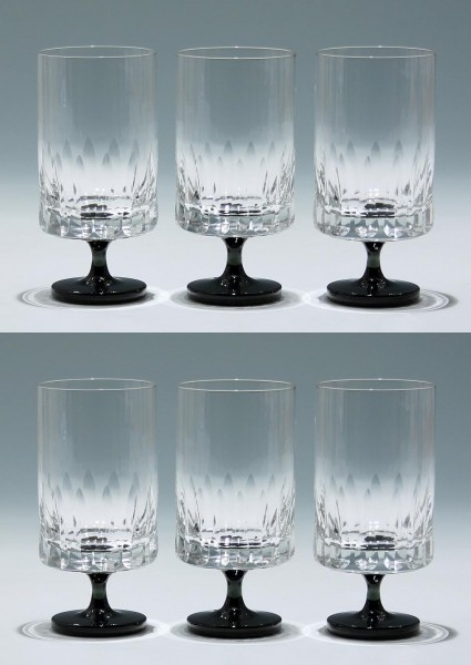 6 Friedrich Glas Kelchgläser 1960er Jahre - 13,3 cm