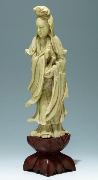 Tall Soapstone Figure of Guanyin - China 20th C. - 45 cm