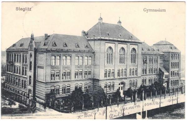 AK STEGLITZ - GYMNASIUM - gelaufen 1911 #ak0102