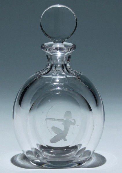 Maleras Sweden signed Decanter or Perfume Bottle
