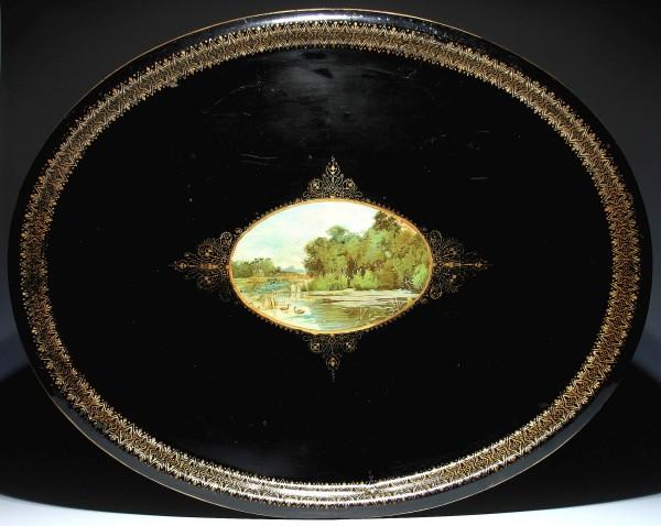 Großes Metalltablet Griffiths&Browett Birmingham circa 1900 60 x 75 cm