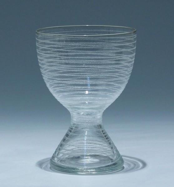 Vase mit Fadenauflage Ingridhütte um 1970