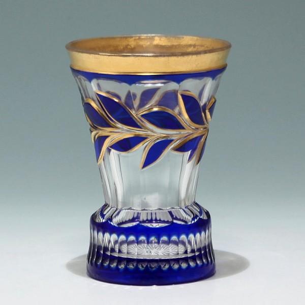 Biedermeier Überfangglasbecher - Böhmen circa 1850