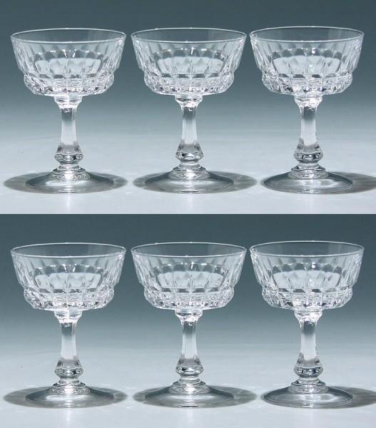 6 Cristal d`Arques Likörschalen POMPADOUR 9,8 cm
