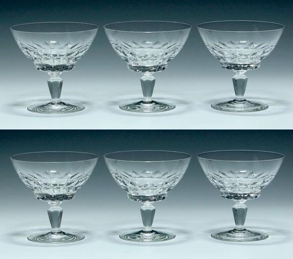 6 Spiegelau Sektschalen PALERMO 1960er Jahre