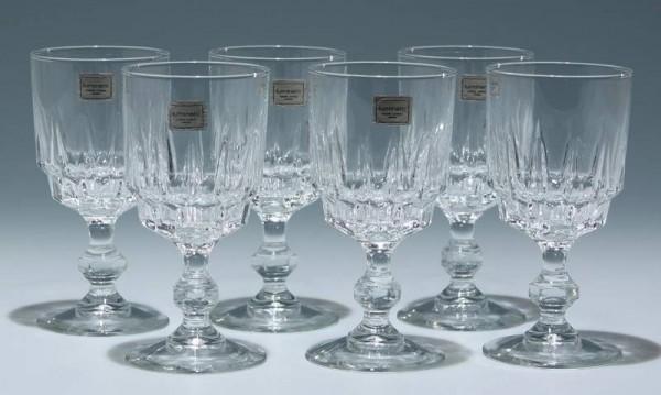 6 Cristal d`Arques Luminarc Weingläser LANCE 13,3 cm