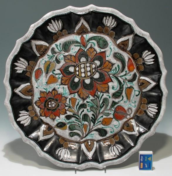 Großer Erhart Keramik Wandteller - Schiavon Italien 1960er Jahre