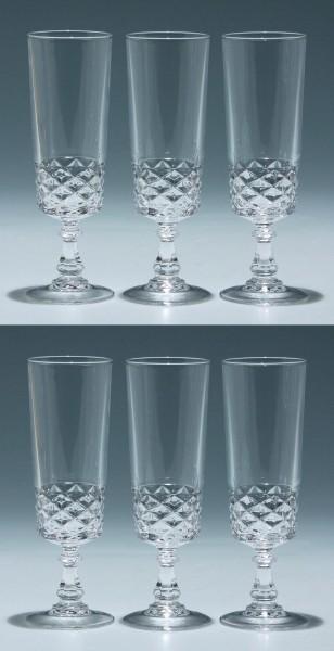 6 Cristal d`Arques Sektgläser DIAMOND