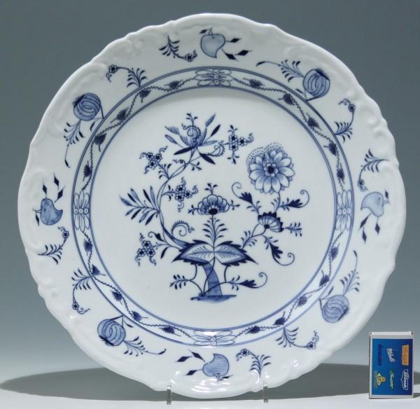 Großer Simson / Suhl Porzellan Teller mit Zwiebelmuster