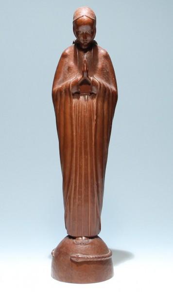 Holzfigur BETENDE - 1. Hälfte 20. Jahrhundert - 55 cm